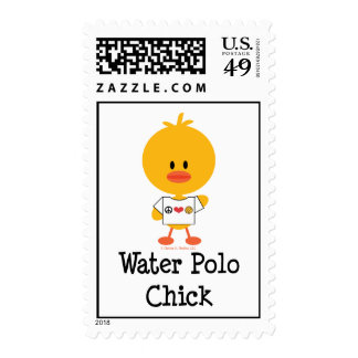 Water Polo Chick Stamps