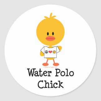 Water Polo Chick Stickers