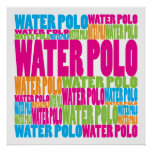 Water polo colorido posters