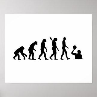Water polo de la evolución poster