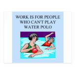 water polo de las mujeres postal