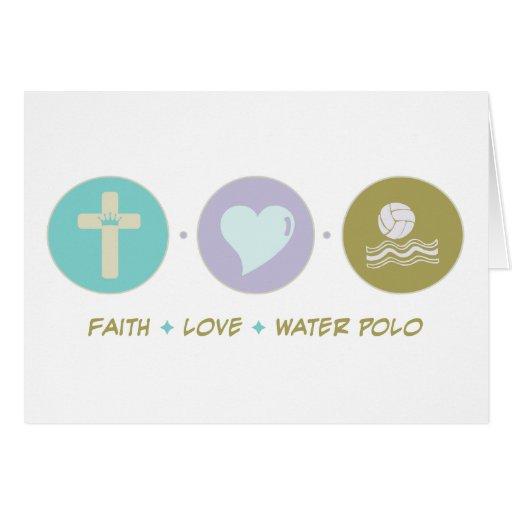 Water polo del amor de la fe tarjeta de felicitación