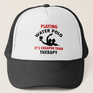 water polo design trucker hat