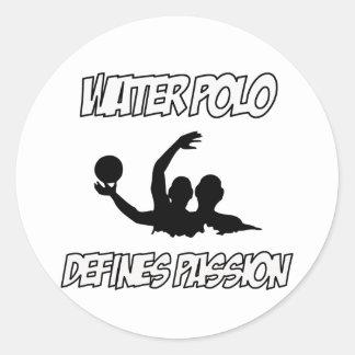 WATER POLO designs Classic Round Sticker
