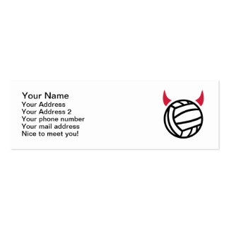 Water polo devil Double-Sided mini business cards (Pack of 20)