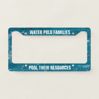 Water Polo Families Pool Their Resources Template License Plate Frame