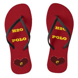 Water Polo Feet Edit Initials Flip Flops