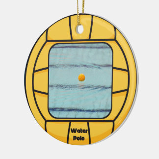 Water Polo frame (add your own photo!) Ceramic Ornament
