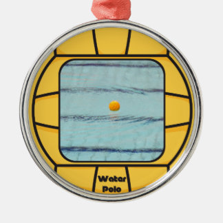 Water Polo frame (add your own photo!) Metal Ornament