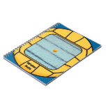 Water Polo frame (add your own photo!) Spiral Notebooks