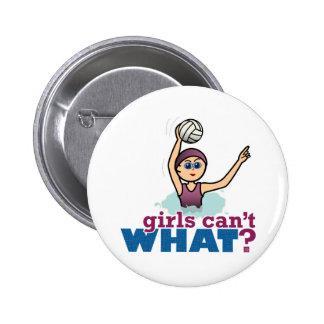 Water Polo Girl Button