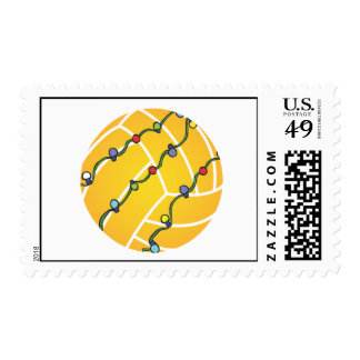 Water Polo Holiday Stamp