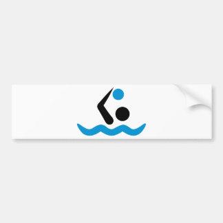 Water polo logo bumper stickers