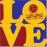 Water Polo Love Acrylic Cut Out