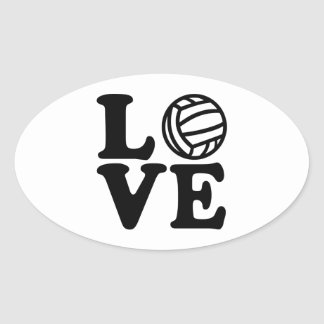 Water polo love oval sticker