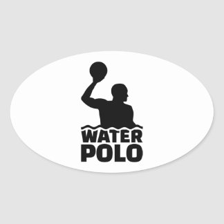 Water polo oval sticker