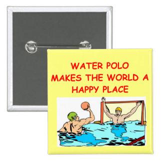 water polo pinback button
