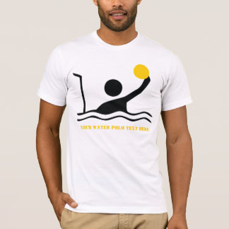 Water polo player black silhouette custom
