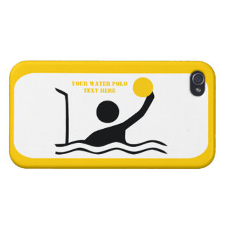 Water polo player black silhouette custom case for iPhone 4