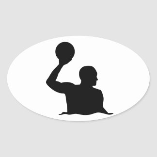Water polo player sticker