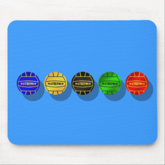 Water polo players and waterpolo players ball mouse pad