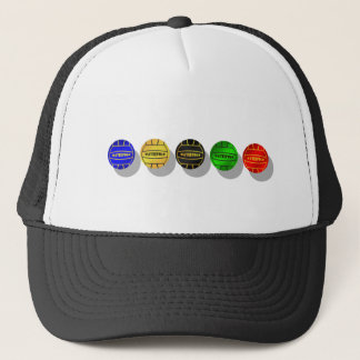 Water polo players and waterpolo players ball trucker hat