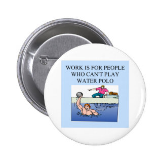 water polo players pinback button