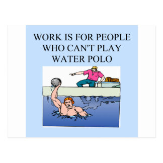 water polo players postcard