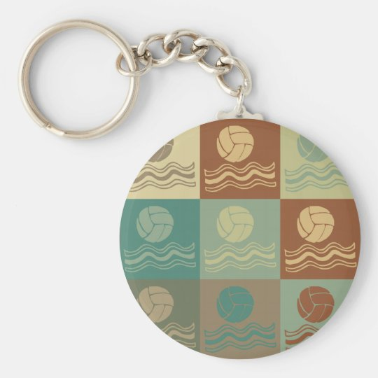 Water Polo Pop Art Keychain