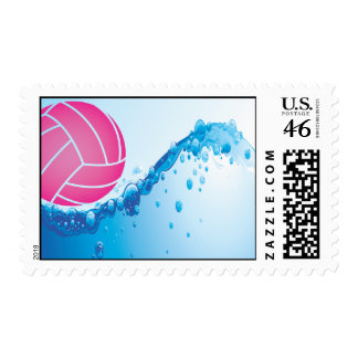 Water Polo Postage - Pink