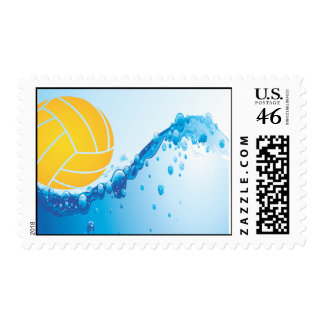 Water Polo Postage - Yellow
