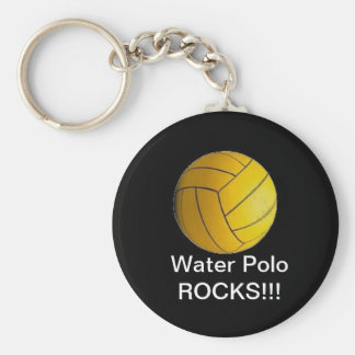 Water Polo ROCKS!!! Basic Round Button Keychain