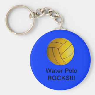 Water Polo Rocks !!! keychain blue