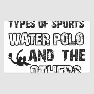 Water Polo rope designs for lovers of the sport Rectangular Sticker
