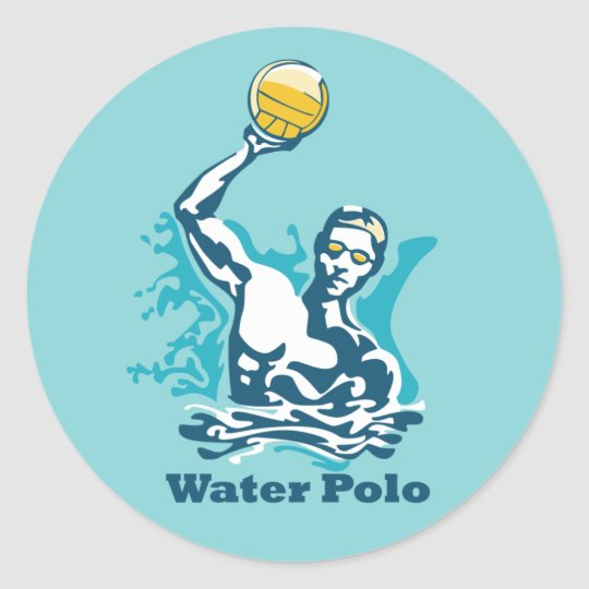 Water Polo Shot Classic Round Sticker