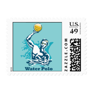 Water Polo Shot Postage