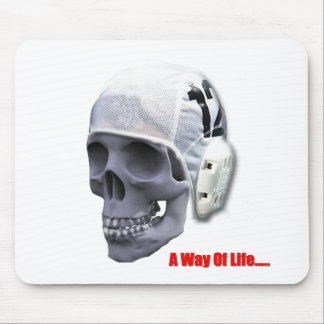 water-polo-skull mouse pad