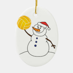 Water Polo Snowman Ornament at Zazzle