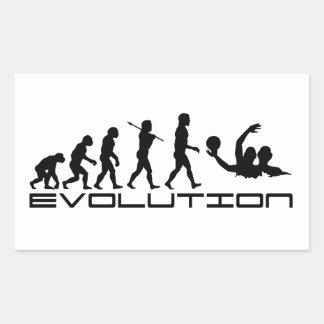 Water Polo Sport Evolution Art Rectangular Sticker