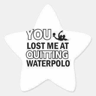 Water Polo sports designs Star Sticker