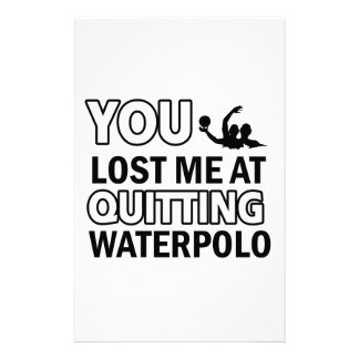 Water Polo sports designs Customized Stationery