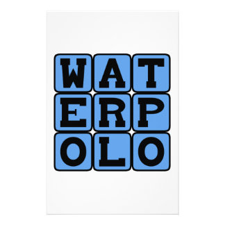 Water Polo, Sports Stationery Design