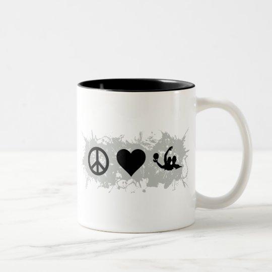 Water polo Two-Tone coffee mug