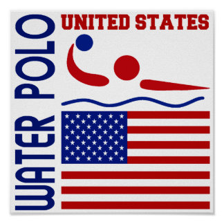 Water Polo United States Poster
