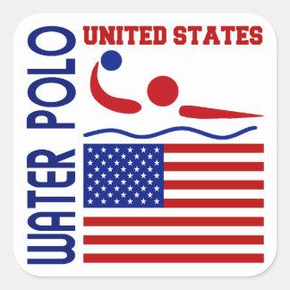 Water Polo United States Square Sticker