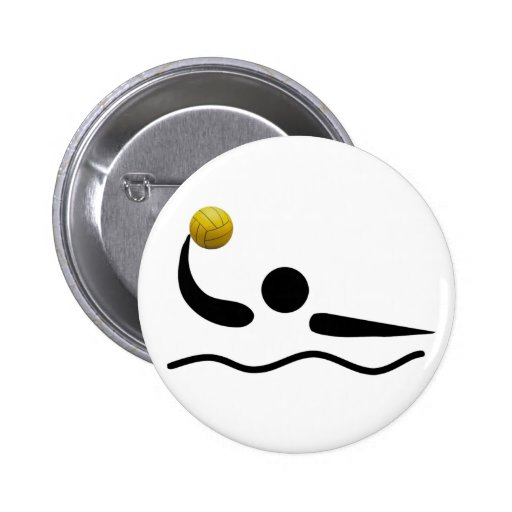 Water Polo Universal Sport Symbol Pinback Button