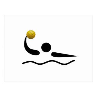 Water Polo Universal Sport Symbol Postcard