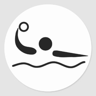 Water Polo Waterpolo Pictogram Classic Round Sticker