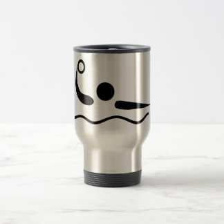 Water Polo Waterpolo Pictogram Stainless Steel Travel Mug