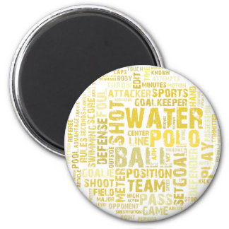 Water Polo Word Cloud Products 2 Inch Round Magnet